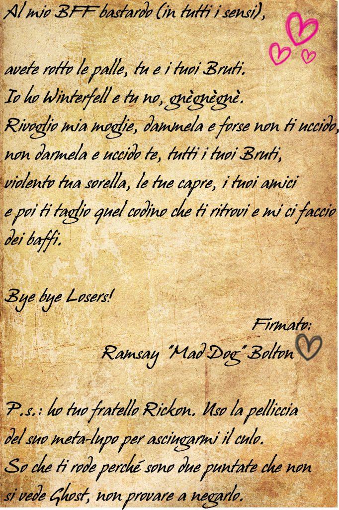 lettera Ramsay